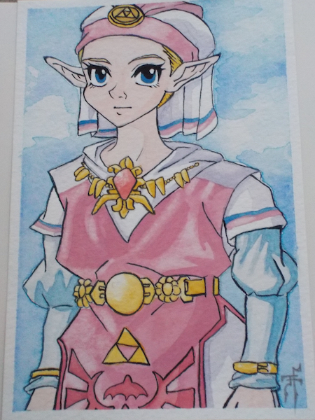 "Photo Credit: J.H. Winter ""Z is for Zelda"" from the video game, LEGEND OF ZELDA."