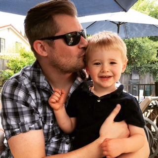 My amazing husband and son. Photo Credit: J.H. Winter.