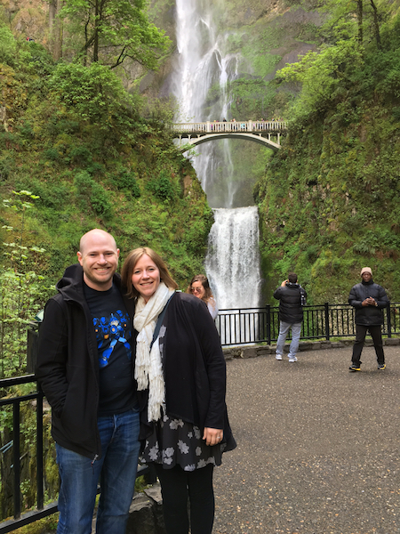 My brother and I at Multnomah Falls. Photo Credit: J.H. Winter
