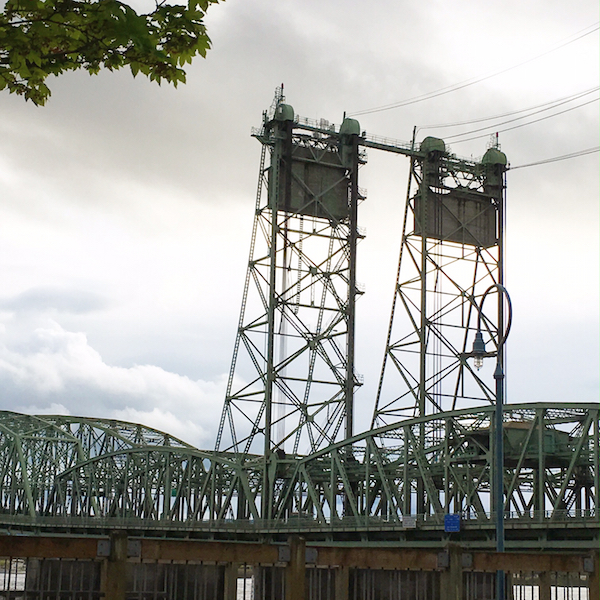 Bridge from Vancouver into Portland, Oregon. Photo Credit: J.H. Winter