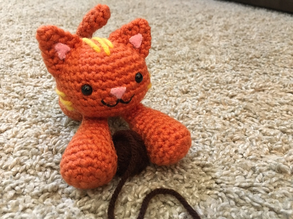 GIVEAWAY PRIZE: Floppy Cat (Handmade by J.H. Winter)