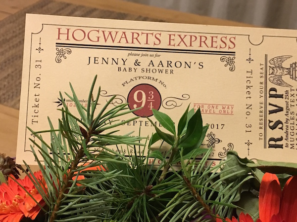 Harry Potter-Themed Baby Shower! Part One