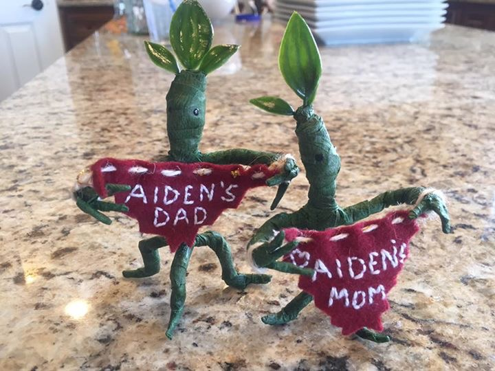 Mini Bowtruckle Pins I Made for Aaron and Jenny to Wear for their Big Day! Photo Credit: J.H. Winter
