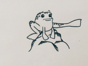 Pointing Frog