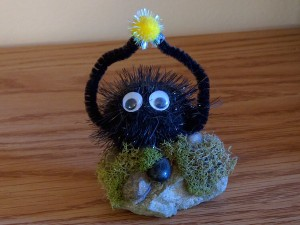 Soot Sprite Rock Sculpture