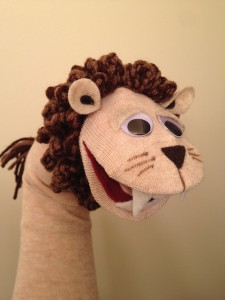 Lion Sock Puppet 1
