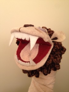 Lion Sock Puppet 2