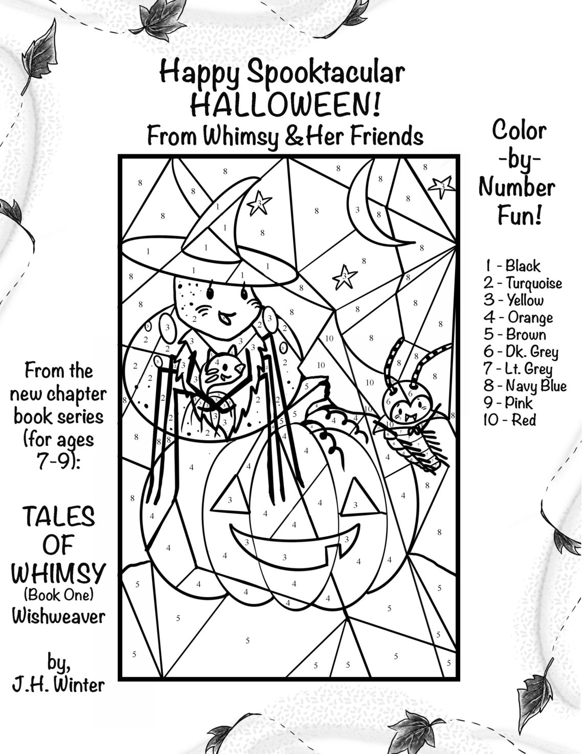 Free Coloring Pages A Halloween Color By Number Ink Stitches